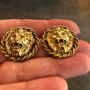 Vintage Lion head earrings